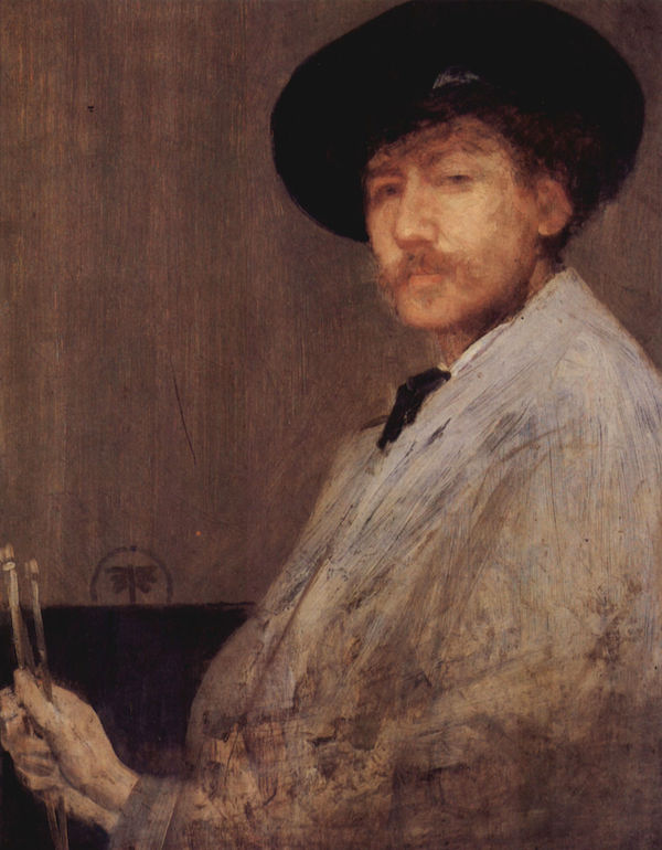 Self Portrait -1- by James Abbot McNeill Whistler  Print